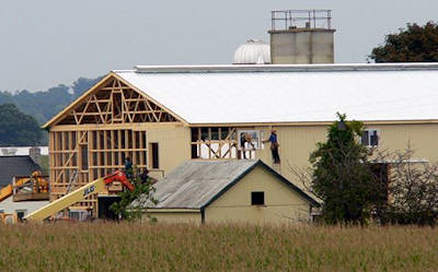 Amish Barn Raising image 6