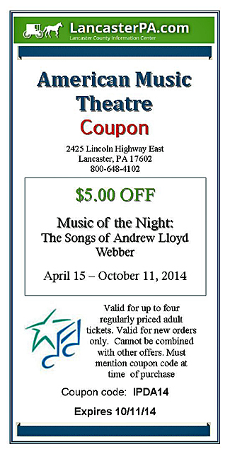 Music of the Night coupon