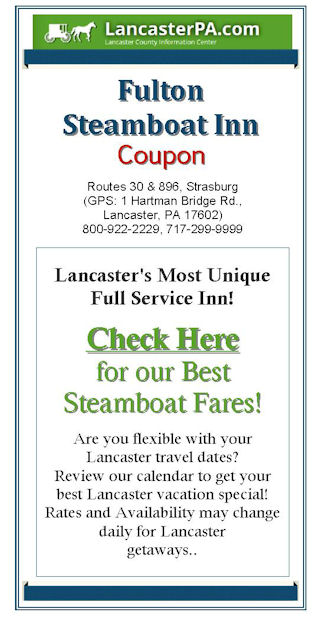 Fulton Steamboat Inn Coupon