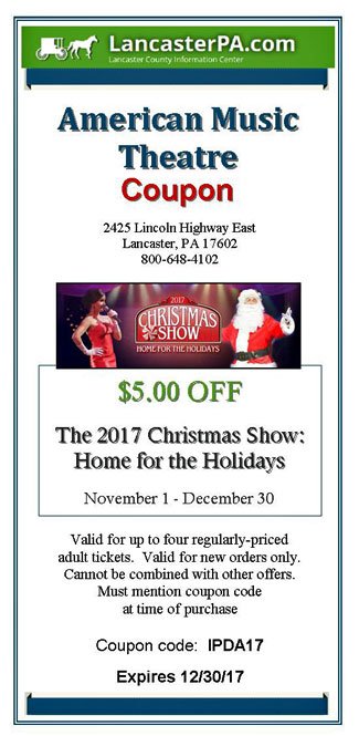 American Music Theatre - 'Christmas Show' Coupon
