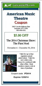 American Music Theatre Christmas Coupon