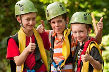 Refreshing Mountain Kids Zipline