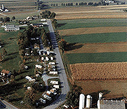 Aerial view of Beacon Hill Camping