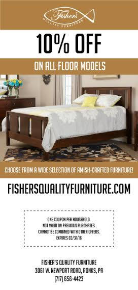 Fisher's Quality Furniture Coupon