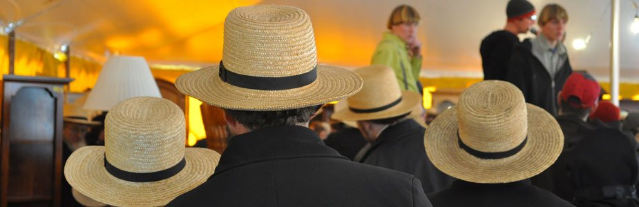 Amish Hats at a Mud Sale