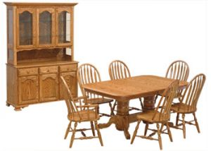 Weaver Furniture Double Pedestal Dining Set